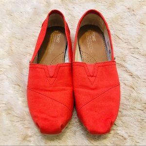 Toms' Orange Canvas Classic Shoe